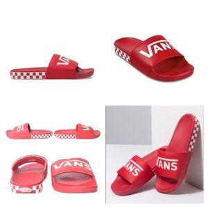 Vans Checkered Racing Red Slides Sandals Unisex